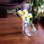 生花でお客様をお迎えします。
